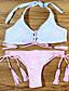 Bikinis Aux femmes Fleur Bandeau Polyester
