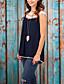 Damen Patchwork Einfach Lässig/Alltäglich T-shirt,Rundhalsausschnitt Sommer Ärmellos Blau / Weiß / Grün / Orange Baumwolle / Leinen Dünn