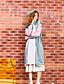 liangsanshi kvinders afslappet / daglig street chic vinterjakker, farve blok stå langærmet grøn polyester medium