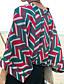 Polyester Rød Medium Tre-kvart ermer,Dyp V Sett Geometrisk Sommer Enkel Fritid/hverdag Kvinner