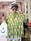 1/2 ærmelængde Rund hals Medium Kvinders Gul Blomstret Sommer Simpel Casual/hverdag Bluse,Polyester