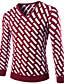 Normal Pullover Fritid/hverdag Enkel Herre,Stripet / Geometrisk Blå / Rød / Sort Rund hals Langermet Bomull / Akryl Vinter Tykk / Medium