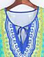 婦人向け ヴィンテージ / ボヘミアン パーティー ボディコン ドレス,フラワー ディープVネック ミニ ハーフスリーブ グリーン ポリエステル / スパンデックス 夏