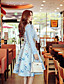 Damen Röcke,A-Linie Schaukel Blumen Druck Gefaltet,Urlaub Ausgehen Party/Cocktail Street Schick Vintage Boho Hohe Hüfthöhe Knielänge