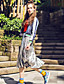 Damen Stickerei Street Schick Lässig/Alltäglich Jacke,Winter Rundhalsausschnitt Langarm Blau Dünn Polyester