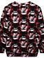 Damen Pullover Lässig/Alltäglich Einfach Druck Rundhalsausschnitt Mikro-elastisch Polyester Langarm Frühling