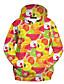 Damen Kapuzenshirt Sport 3D-Druck Rundhalsausschnitt Mikro-elastisch Polyester Langarm Herbst Winter