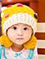 Mädchen Hüte & Kappen Winter Strickware Rot Gelb