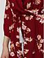Langærmet Kvinders Simpel Jumpsuits Mikroelastisk Polyester