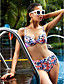Kvinner Bandeau Bikini Polyester
