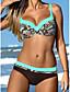 Dame Bikini Blomstret Bandeau Trykt mønster