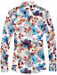 Bomull Polyester Spandex Medium Langermet,Skjortekrage Skjorte Geometrisk Alle sesonger Enkel Bohem GatemoteBryllup Ut på byen