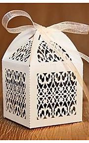 papier orchidee filigraan gunste box - set van 12 (meer kleuren)