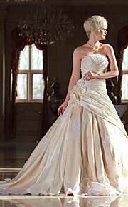 Lanting Bride® Trapèze Petites Tailles / Grandes Tailles Robe de Mariage - Classique & Intemporel / Elégant & LuxueuxColorées /