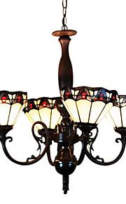 Тиффани стиль подвесной светильник с 4 индикатора