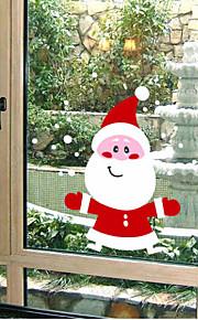 kerst decoratie muurstickers vakantie ornamenten mooie kerstman sneeuwpop