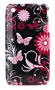 Blomster og Sommerfugl Mønster Beskyttende Cover til iPhone 3G, 3GS