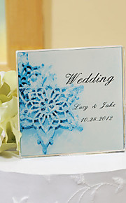 Cake Toppers Personalized Crystal  Cake Topper - Blue Winter
