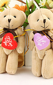 "Little Bear With ""I Love You"" Heart (Set of 6 Pairs)"