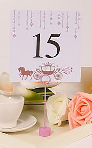 placera kort och innehavare fyrkantigt bord numrerar kortet - häst och vagn (uppsättning av 10)
