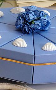 la lumière du ciel bleu boîte faveur gâteau avec coquille (jeu de 10)