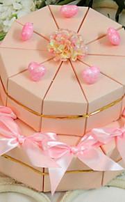 rose boîte de faveur coeur gâteau (jeu de 20)