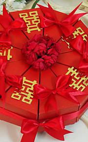 chinois double boîte faveur bonheur gâteau (jeu de 10)