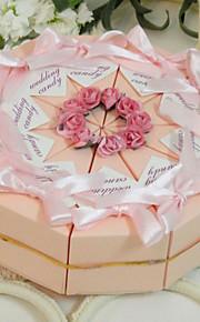Spring Garden rose boîte de faveur gâteau (jeu de 10)