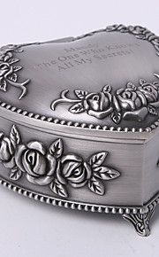 personnalisé millésime tutania coeur floral thème la conception de bijoux boîte de