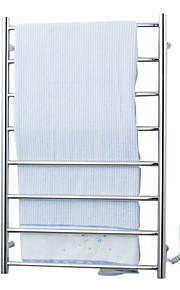70W elegantie stalen wand montage ronde buis handdoek warmmer droogrek