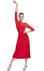 Ballroom Dancewear Polyester Latin Dance Dress For Ladies More Colors