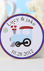 Personalized Favor Tag - Engine (Set of 36)