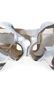 suojaava kaksivärinen tyyliä silikonisuoja ps3 ohjain (ruskea ja valkoinen)