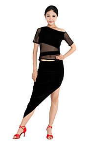 dancewear gemerceriseerde katoen latin dance outfit voor dames