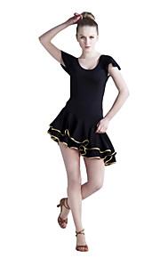 dancewear viscose med flæser latin dans kjole til damer