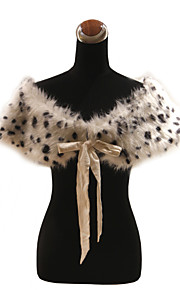 elegante faux fur met linten / animal print feest / avond sjaal / wrap bolero schouderophalen