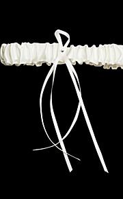 Satin avec strass / Jarretière de mariée en satin Rubans