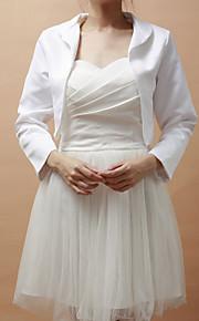 prachtige lange mouw satijn speciale gelegenheid 's avonds jas / bruiloft wrap (meer kleuren) bolero schouderophalen