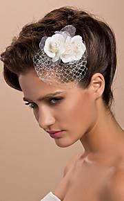 Vrouwen Tule Helm-Bruiloft / Speciale gelegenheden / Informeel / Buiten Fascinators / Bloemen