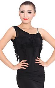Ballroom Dancewear Viscose Latin Dance Top For Ladies