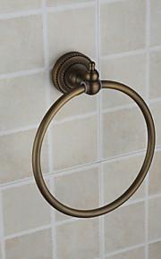 Anneau à Serviette Bronze Antique Fixation Murale 21*18.5*6.5 Laiton Antique
