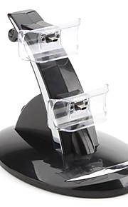 Dubbele USB lader Stand voor PS3-controller (zwart)