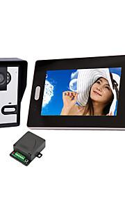 Trådløs Night Vision kamera med 7 tommer dørtelefon Monitor