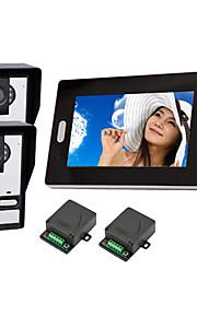 "2,4 GHz draadloze 7 ""LCD-monitor Home Security video deurtelefoon en intercom systeem"
