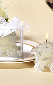 Silvery Rose Carriage Candle(set of 4)