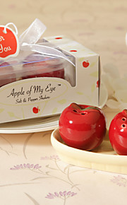 """Apple Of My Eye"" Ceramic Salt & Pepper Shakerss (Set of 2)"