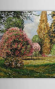 Peinture à l'huile réalisée à la main sur canevas tendu - Le Parc Monceau de Claude Monet