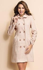 ts Einfachheit grundlegende Zweireiher Wollmischung Mantel