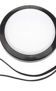 Mennon 77mm lente de la cámara Balance de blancos Tapa con correa de mano (Negro y Blanco)