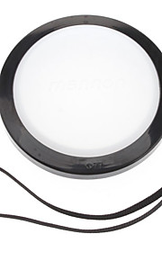 MENNON 77mm Camera Witbalans lensdop Cover met Hand Strap (Zwart & Wit)
